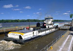 Towboat through Lock and Dam #5