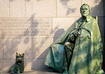 Franklin Delano Roosevelt Memorial, with the President's dog, Fala, at his side.
