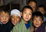 Students at Katsho Lower Secondary School(Kindergarten through 8th Grade) in Haa, Bhutan