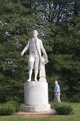 President James Monroe statue at his Ash Lawn-Highland home in Charlottesville, Virginia