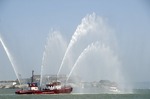San Francisco Fire Department Fire Boat No. 1 Phoenix on Opening Day on the Bay