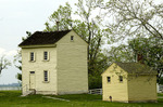 Water House (left), Brethren's bath house (right) at Shaker Village of Pleasant Hill, Kentucky.