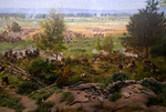 The Cyclorama painting of Pickett's Charge, in the museum at Gettysburg National Military Park, Pennsylvania