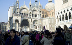 Crowds in Piazzetta San Marco during Carnival, Venice, Italy