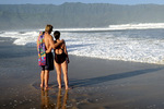 Couple on Hanalei Beach, Island of Kauai, Hawaii