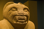 """Olmec: Colossal Masterworks of Ancient Mexico""   Small feline, Veracruz 1200-900 B.C., Arkosc"