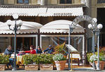A restaurant on Plaza Repubblica, Florence, Tuscany, Italy
