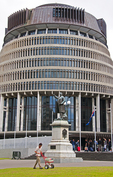 New Zealand Executive Wing (the Beehive) of the Parliament house, Wellington, New Zealand 