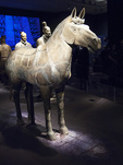 Horse (Qin dynasty) at the Terracotta Warriors exhibition at the Asian Art Museum, San Francisco, California