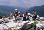 GROUP AT ROHRBAUGH PLAINS TRAIL OVERLOOK IN THE DOLLY SODS WILDERNESS IN WV