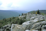HIKERS AT ROCKY POINT/LION'S HEAD IN THE DOLLY SODS WILDERNESS IN WV