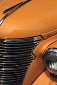 Chevy 1938 hood ornament, grill, light