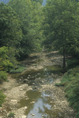 Stream during drought conditions