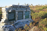 Bear Rocks Nature Conservancy Preserve and sign
