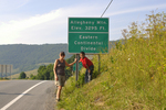 Grandmother and grandson at the Eastern Continental Divide in WV