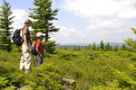 Grandmother and grandson looking toward the Dolly Sods North Wilderness in WV