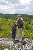 Grandmother and grandson looking toward the Dolly Sods South Wilderness in WV