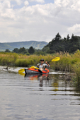 Kayaker in the headwaters of the Blackwater River