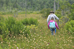 Mother and daughter hiking in Big Run Bog