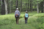 Mother and daughter hiking the Blackwater River Trail in Canaan Valley State Park
