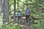 Mother and daughter hiking the Rohrbaugh Plains Trail in the Dolly Sods Wilderness