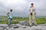 Mother and daughter standing on rocks at the Nature Conservancy's Bear Rocks Nature Preserve