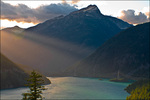 Sun Rays, Diablo Lake, and Sourdough Peak, North Cascades National Park and Ross Lake National Recreation Area, WA