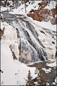 Gibbon Falls in Winter, Yellowstone National Park, WY