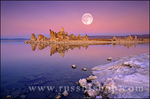 Full moon over off shore tufa formations at Mono Lake