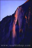 Evening light on Horsetail Falls