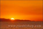 Sun setting behind Santa Cruz Island