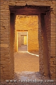 Interior doorways at the ruins of Pueblo Bonito, Chaco Canyon
