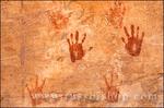Anasazi hand prints at Turkey Pen Ruin