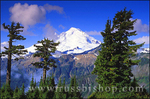 Morning light on Mount Baker, North Cascade Mountains, Mount Baker-Snoqualmie National Forest, Washington
