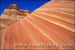 "Swirling sandstone formation known as ""The Wave"" in the Coyote Buttes area, Paria Plateau, Paria Canyon-Vermilion Cliffs Wilderness, Arizona/Utah"