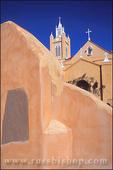 Morning light on San Felipe de Neri Church, Old Town, Albuquerque, New Mexico