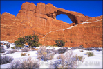 Morning light on Skyline Arch in winter, Arches National Park, Utah