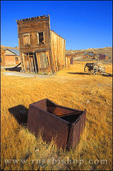 Afternoon light on the Swazey Hotel and ore box on Main Street, Bodie State Historic Park (National Historic Landmark), California