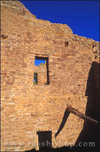Three story dwelling at the West Pueblo, Aztec Ruins National Monument, New Mexico
