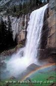 Vernal Falls and rainbow from the John Muir Trail, Yosemite National Park, California