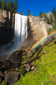 Vernal Fall and rainbow, Yosemite National Park, California USA