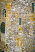 Abbey wall, Mont Saint-Michel monastery, Normandy, France