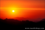 Sunset over the Sierra Nevada foothills from Moro Rock, Giant Forest, Sequoia National Park, California