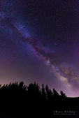 The Milky Way and Perseid meteor over Rose Valley, Los Padres National Forest, California