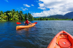 Kayaking on the Hanalei River, Hanalei, Kauai, Hawaii