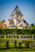 Village chapel and gardens, Chateau de Villandry, Villandry, Loire Valley, France