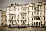 Palaces and gondolas on the Grand Canal, Venice, Veneto, Italy
