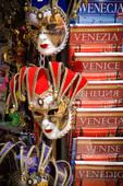 Souvenirs for sale in St. Mark's Square, Venice, Veneto, Italy