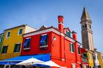 Colorful houses, Burano, Veneto, Italy