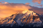 Winter sunrise on Mount Tom, Inyo National Forest, Sierra Nevada Mountains, California USA